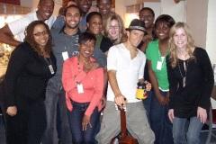 with Jason Mraz and choir